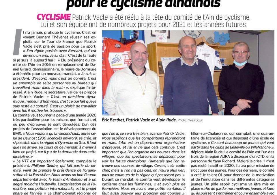 Article presse : Voix de l'Ain – Janvier 2021